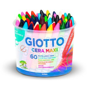 BARATTOLO GIOTTO CERA MAXI – Confezione da 60 pz.