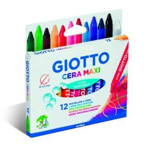 GIOTTO CERA MAXI – Confezione da 12 pz.