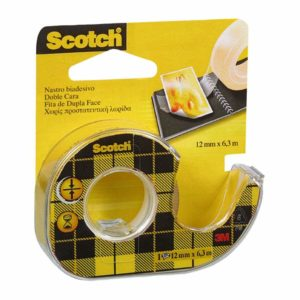 3M Scotch 665 Nastro Biadesivo con Dispenser in Chiocciola 12 mm x 6.3 m