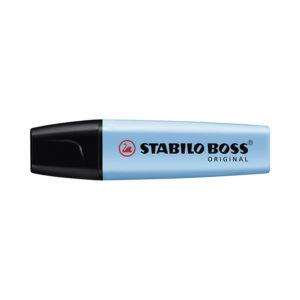 STABILO BOSS ORIGINAL Evidenziatore colore AZZURRO – Confezione da 10