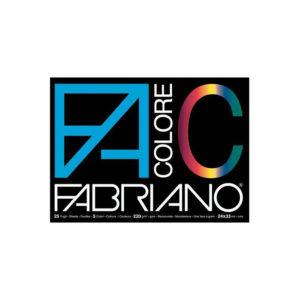 Fabriano Colore, Album da Disegno, Formato 24×33 cm, Carta colorata monoruvida 220 g/mq
