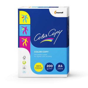 Mondi Color Copy Carta da Stampa, Formato A4, 200 g/mq, 5 Risme da 250 Fogli