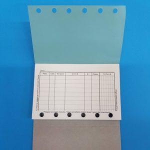 Blocchi in carta chimica con fori, 1 pz.