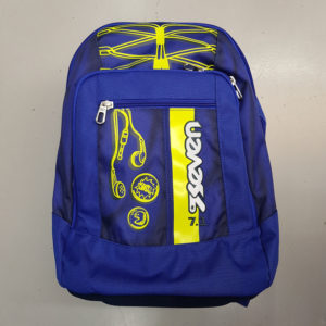 Zaino scuola SEVEN NEW ADVANCED – COLORFUL BOY – Blu e giallo – 30 LT