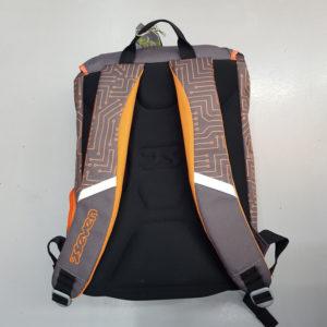 Zaino scuola sdoppiabile SEVEN – CIRCUIT – Grigio Arancione estensibile – 28 LT – auricolari stereo inclusi