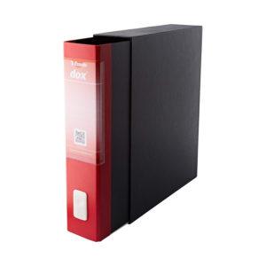 ESSELTE DOX2 Registratore – Protocollo dorso 8 cm – Rosso